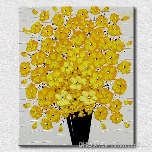 Beautiful handmade oil painting of flowers canvas art wall decoration Christmas gift for friends high quality paint