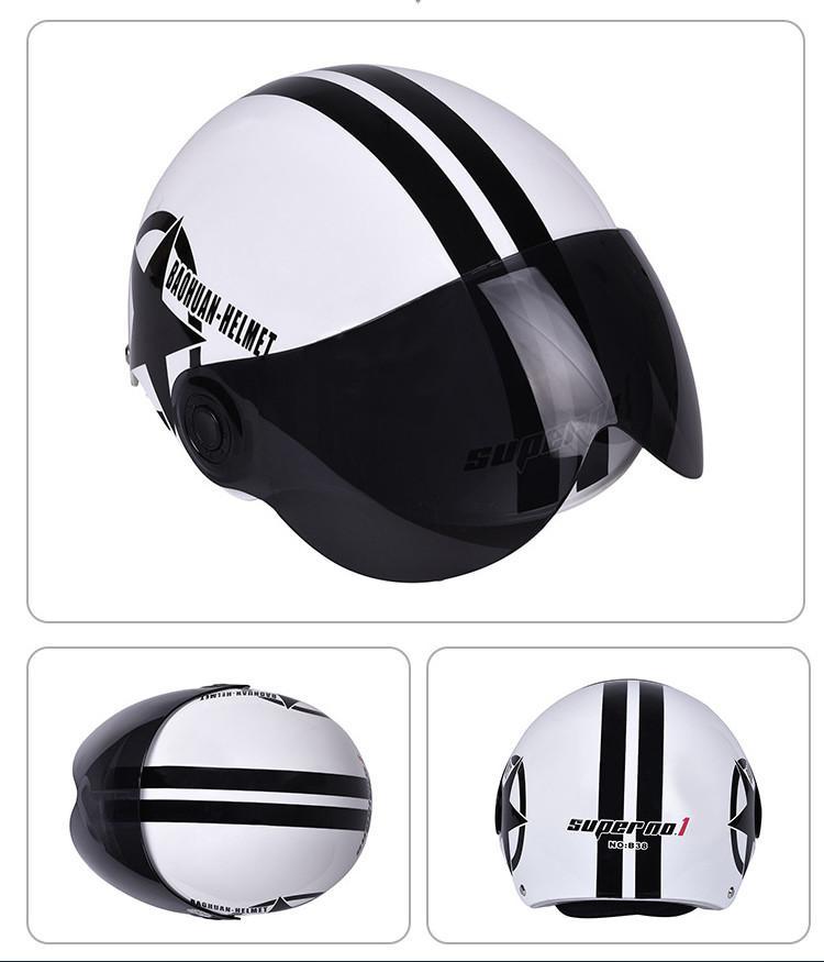 White Off-road Racing Motocross Helmets Men ATV MTB DH Dirt bike Full Face Motorbike Riding Helmet With Sun Visor Lens Motorcycle Helmet