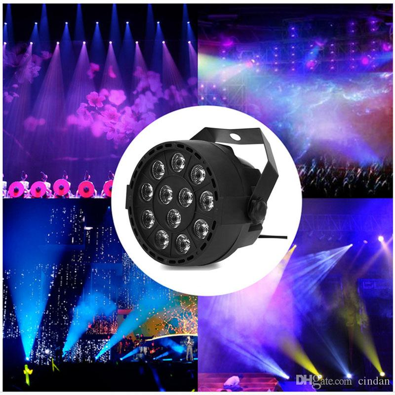 New Professional Sound Activated LED stage Lights 18 RGB PAR LED DMX Stage Lighting Effect Master-Slave Led Flat for DJ Disco Party KTV