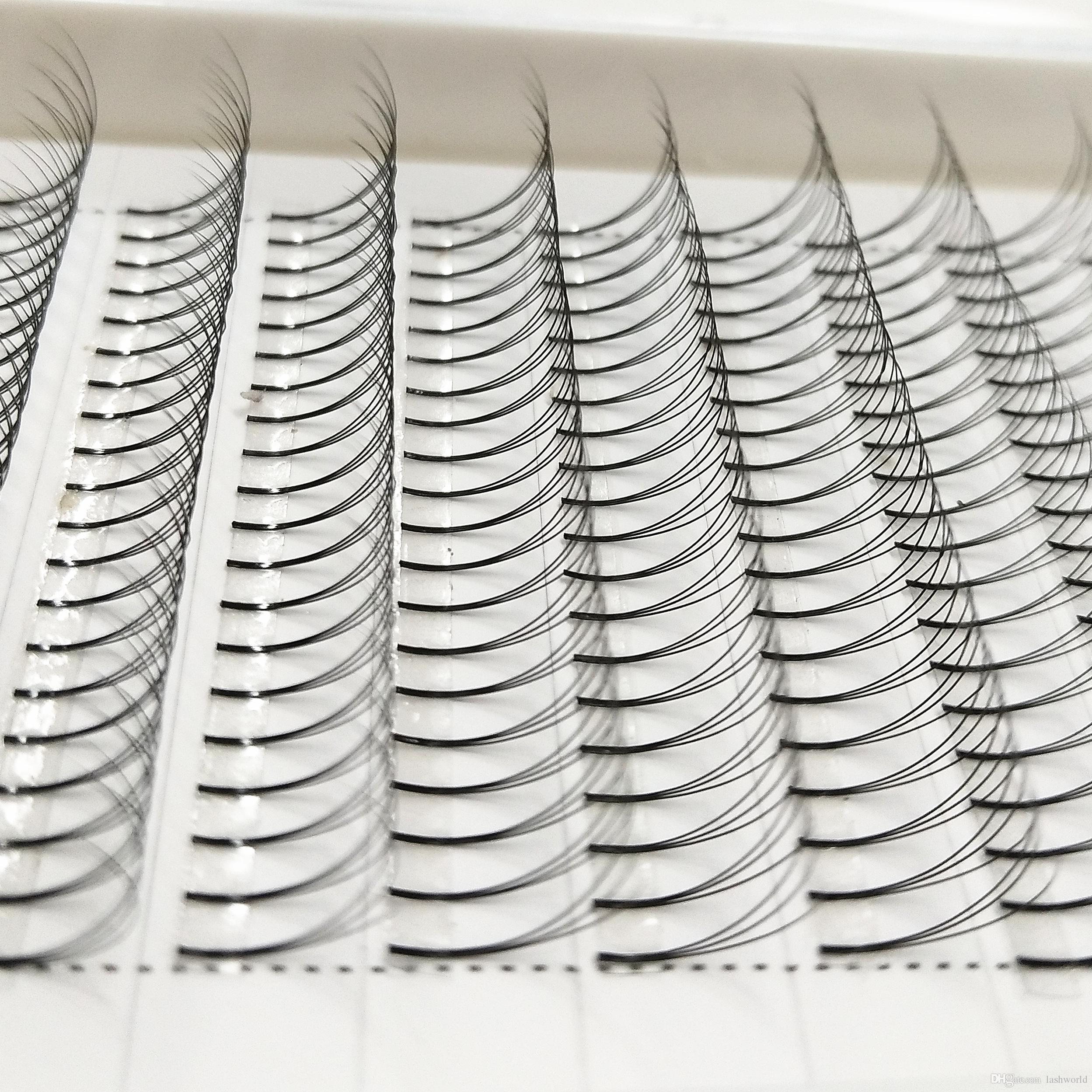Fan di Seashine Pre fatto 8--15mm 4trays D curl 3D ventole di volume ciglia 0.07 0.10mm estensioni ciglia singole ciglia finte