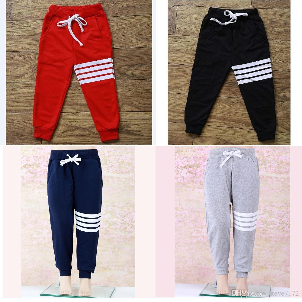 Toddler Baby Girl Boy Casual Striped Trousers Sports Pants Slacks Kid Clothes US