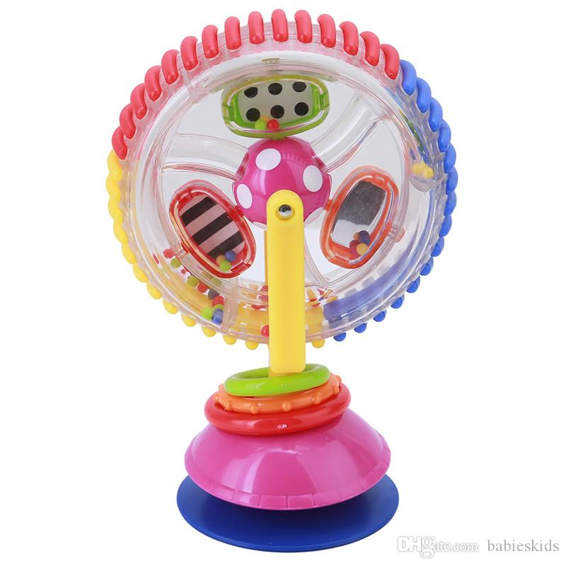 طفل لعبة ثلاثة ألوان نموذج الدورية طاحونة نوريا عربة الطعام كرسي مع شفط الكؤوس ألعاب تعليمية للأطفال