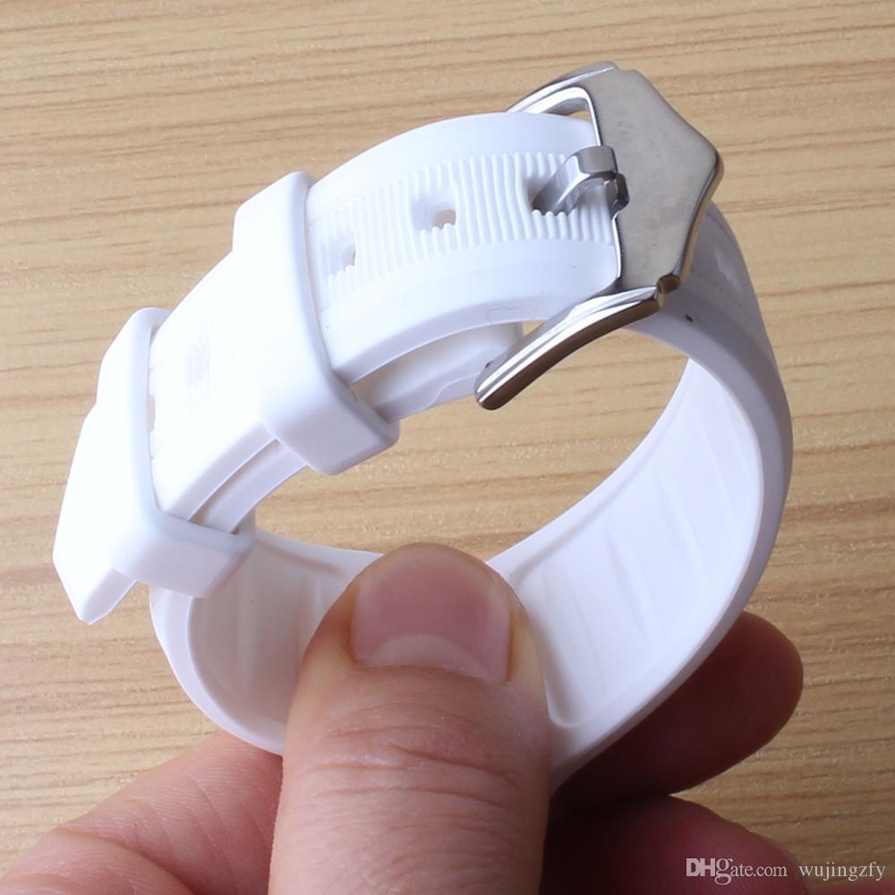 16mm 18mm 19mm 20mm 22mm 24mm cinturini morbidi bianchi disponibili Mens womens nuovi cinturini in silicone impermeabili subacquei cinturini