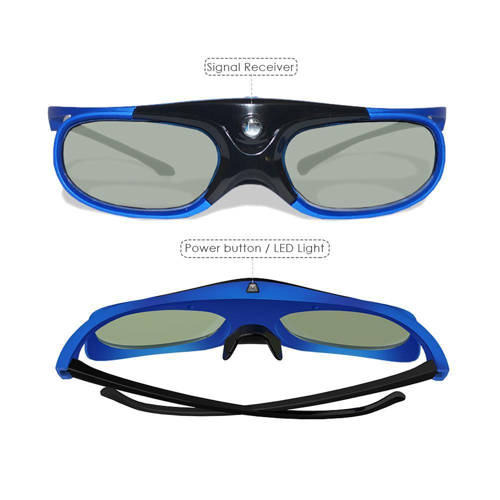 Atacado Ativo Obturador DLP LINK Óculos 3D com Óculos Recarregáveis para 96-144Hz Todos DLP Link 3D Projetores prontos 10 pçs / lote