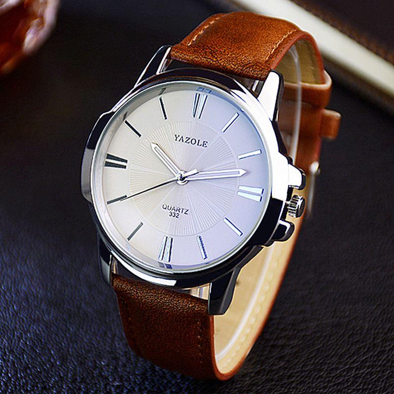 2018 relógio de pulso Relógio de pulso masculino Relógio Yazole relógio de quartzo homens Top Famosos Negócios Quartz-relógio Relógio Masculino