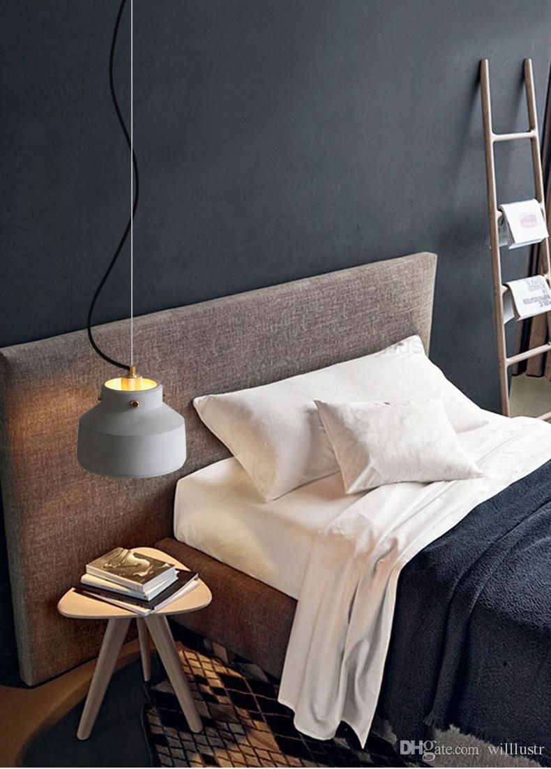 Handmade Concrete Pendant Lamp Cement Suspension Light Industrial Loft Home Bedroom Hotel Dinning Room Restaurant Hanging Light Lighting At Home Silver Pendant Light From Firstdesigner 152 87 Dhgate Com