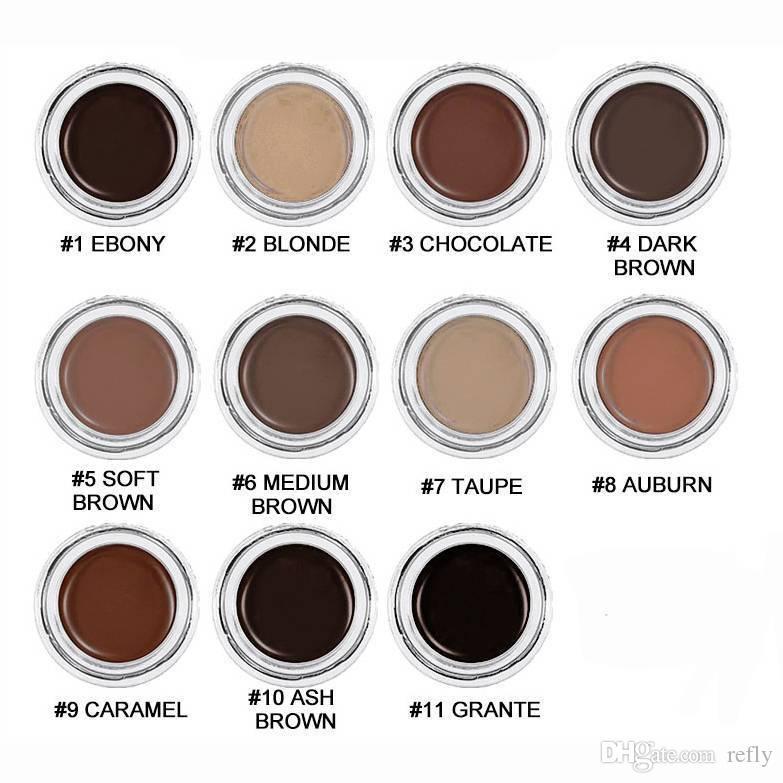 Nouveau sourcil pommade exhausteurs de sourcils maquillage sourcil 11 couleurs avec emballage de détail livraison gratuite DHL