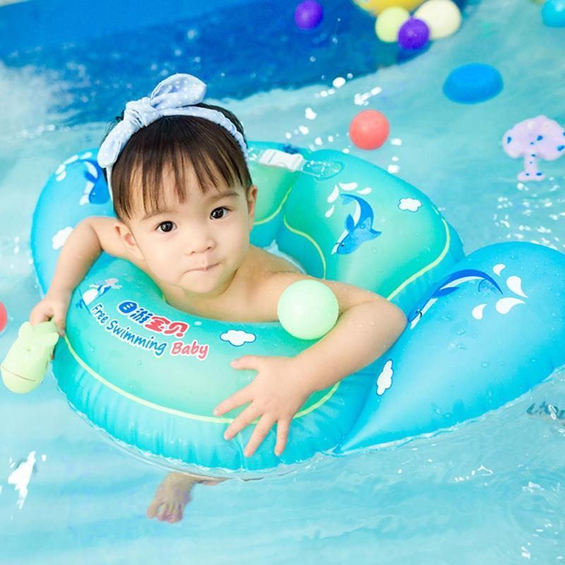 Baby Kids Swimming Ring Floating Toy Inflatable Swimming Pool Bathtub Swim Trainer Floats Seat Accessories for Water Sports