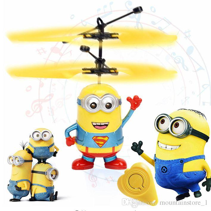 Original Fly Flashing Me Minion RC Helicopter Hand Control Toys Quadcopter RC Drone Ar.drone Ball With LED VS XS809shw JJRC H36