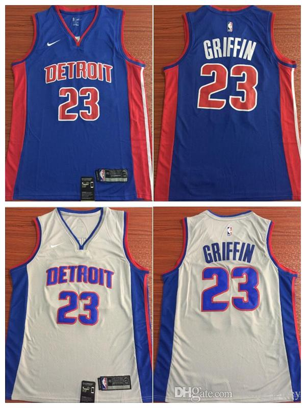 huge selection of f57e0 819bf 2018 2019 New Mens 23 Blake Griffin Detroit Jersey Pistons Basketball  Jerseys Stitched Mesh Dense AU Pistons Blake Griffin Basketball Jerseys  From ...