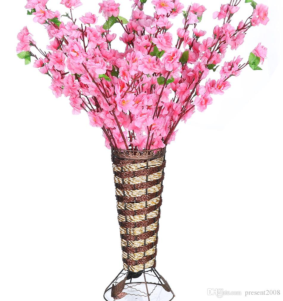 2020 Vases Artificial Flowers Romantic Artificial Branches Of Peach Cherry Blossom Silk Flowers Home Wedding Decoration Flower From Present2008 1 25 Dhgate Com