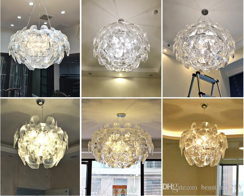 ... Moderne LED Kristall Kronleuchter Lampe Glas Kunst Kronleuchter Licht  Blattform Platten Blume Pendelleuchte Für Foyer Hotel ...