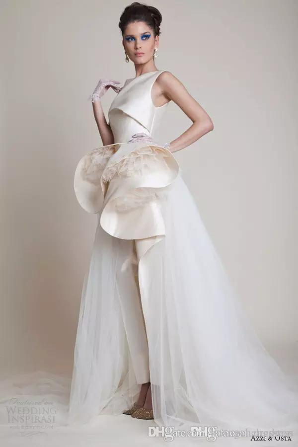Elegante Zuhair Murad Abendkleider Bateau Neck Schößchen Rüschen Formale Abendkleider Overalls Partykleid Nach Maß