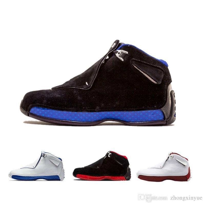 Yeni Spor Kraliyet 18 Basketbol Ayakkabıları Mens 18 s XVIII Siyah Mavi Tanımlayan Anlar Beyaz Kırmızı Tasarımcı Sepeti Eğitmen Spor Rahat Ayakkabı ...
