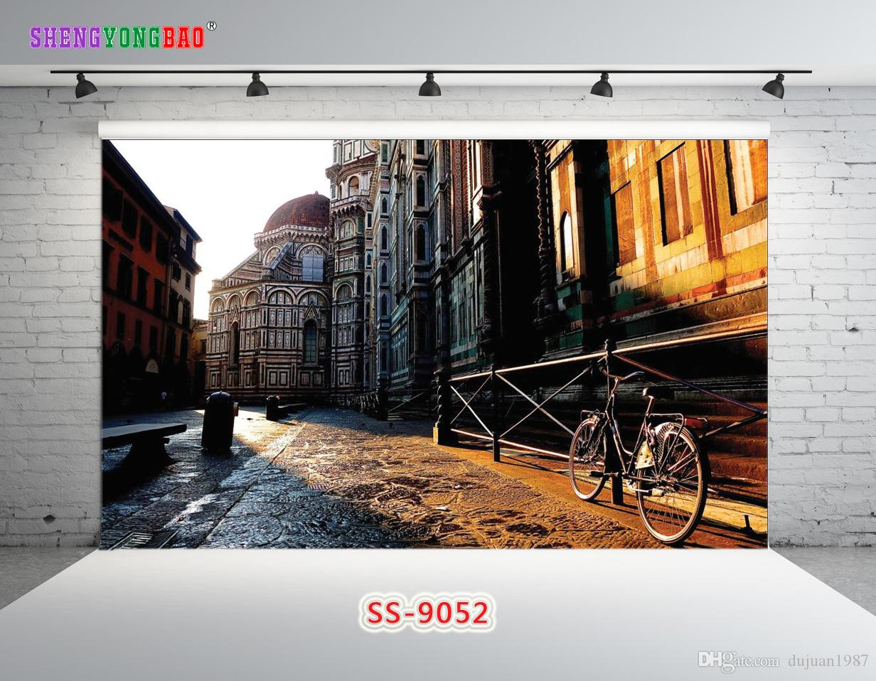 Vinyl Custom City theme Photography Backdrops Prop digital printed Photo Studio Background SS-9052