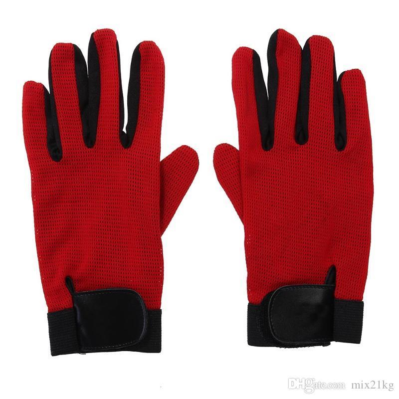 Unisex 1 Paar im Freien Bergsteigen Radfahren Anti-Rutsch-Vollfinger Sport-Handschuhe Mesh-Breathable Fahrrad MTB Rennrad Handschuhe
