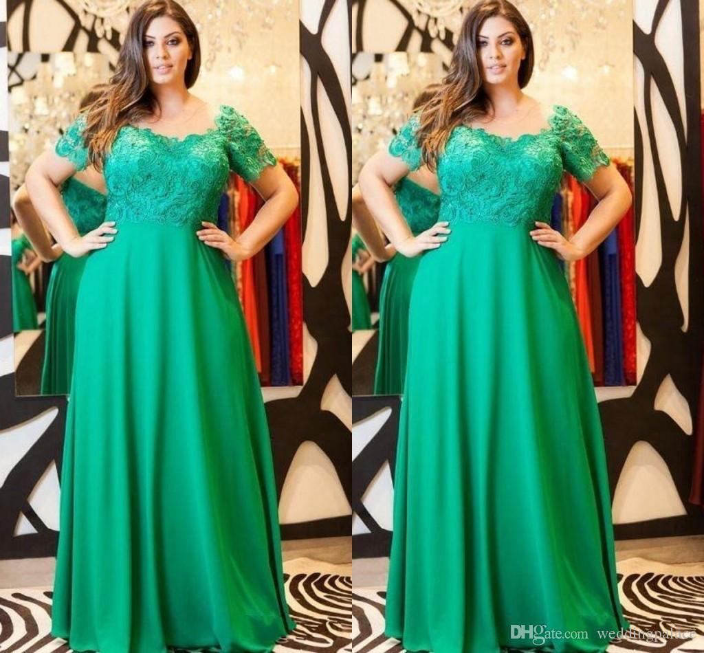 Großhandel Grün Plus Size Mutter Der Braut Kleider Elegante Formale ...