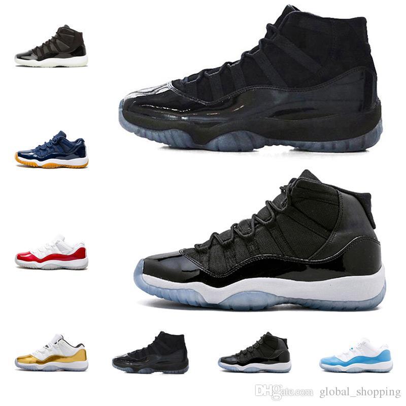 nike air jordan restro Chaussure de basket-ball 11s Prom Night Bonnet et robe légende bleu 82 96 Heiress Black Navy Gum blue Hommes Femmes Chaussures de Sport 5.5-13