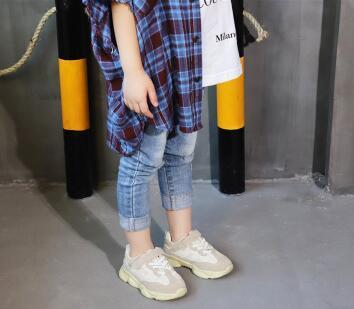 Großhandel Kinder Sportschuhe 2018 Frühling Und Herbst Neue Kinder Netto Gesicht Kokos Schuhe Papa Junge Schuhe Dick Laufende Freizeit Von Wyzq8585,