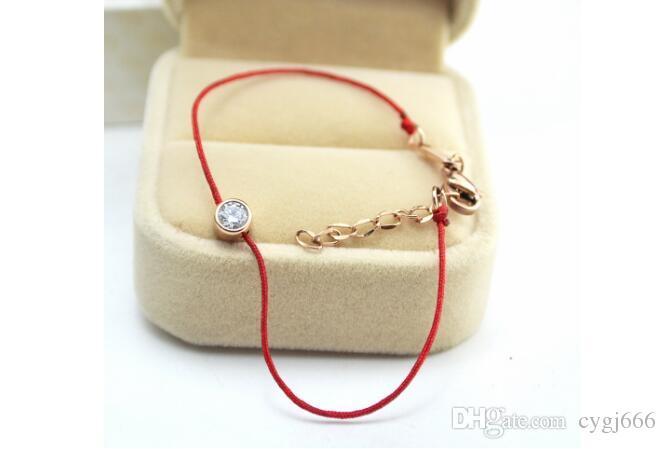 Étoile avec le même paragraphe nuit corde rouge seule corde Naruto année rose bracelet en or titane femme bijoux en acier en gros
