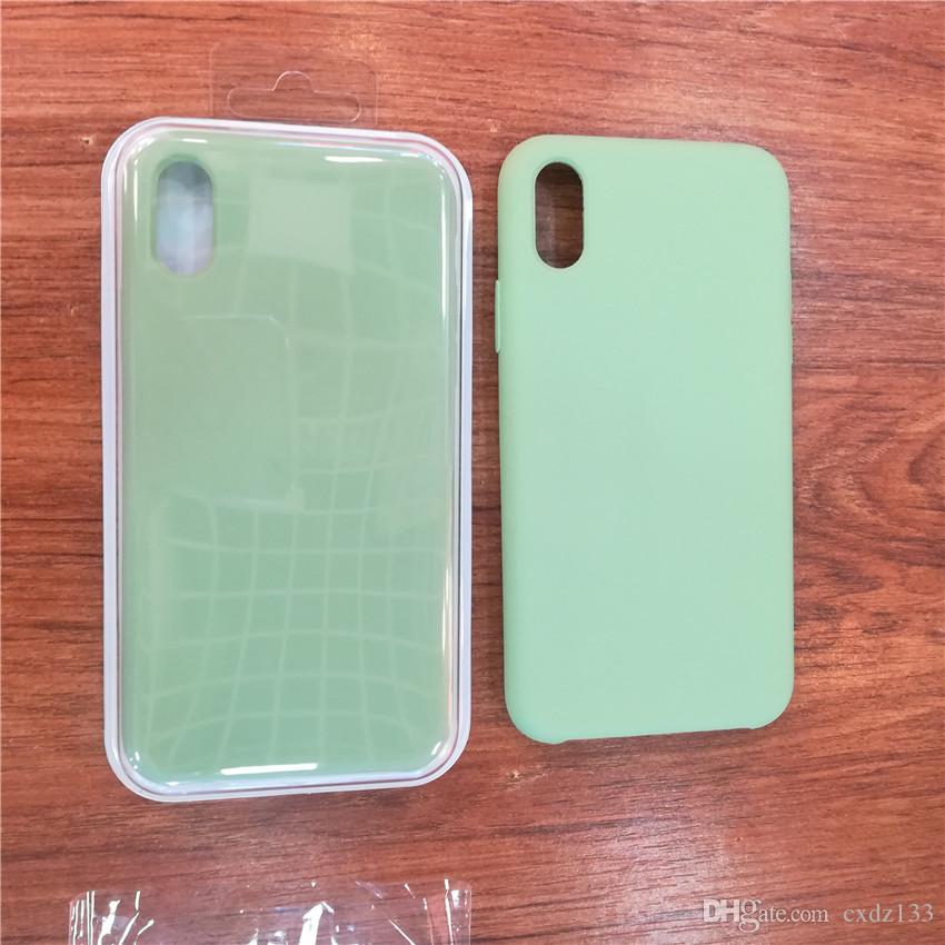 기존 로고 실리콘 케이스 아이폰 7 8 플러스 전화 실리콘 커버 iphone X 6S 6 플러스 애플 소매 박스 들어