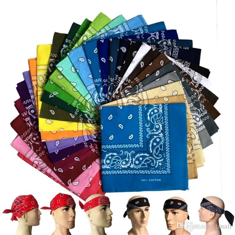 Wholesale--120pieces/lot NEW PAISLEY DESIGN BANDANA 100% COTTON BIKER COW BOY GIRL NECK SCARF WRIST WRAP Party Masks