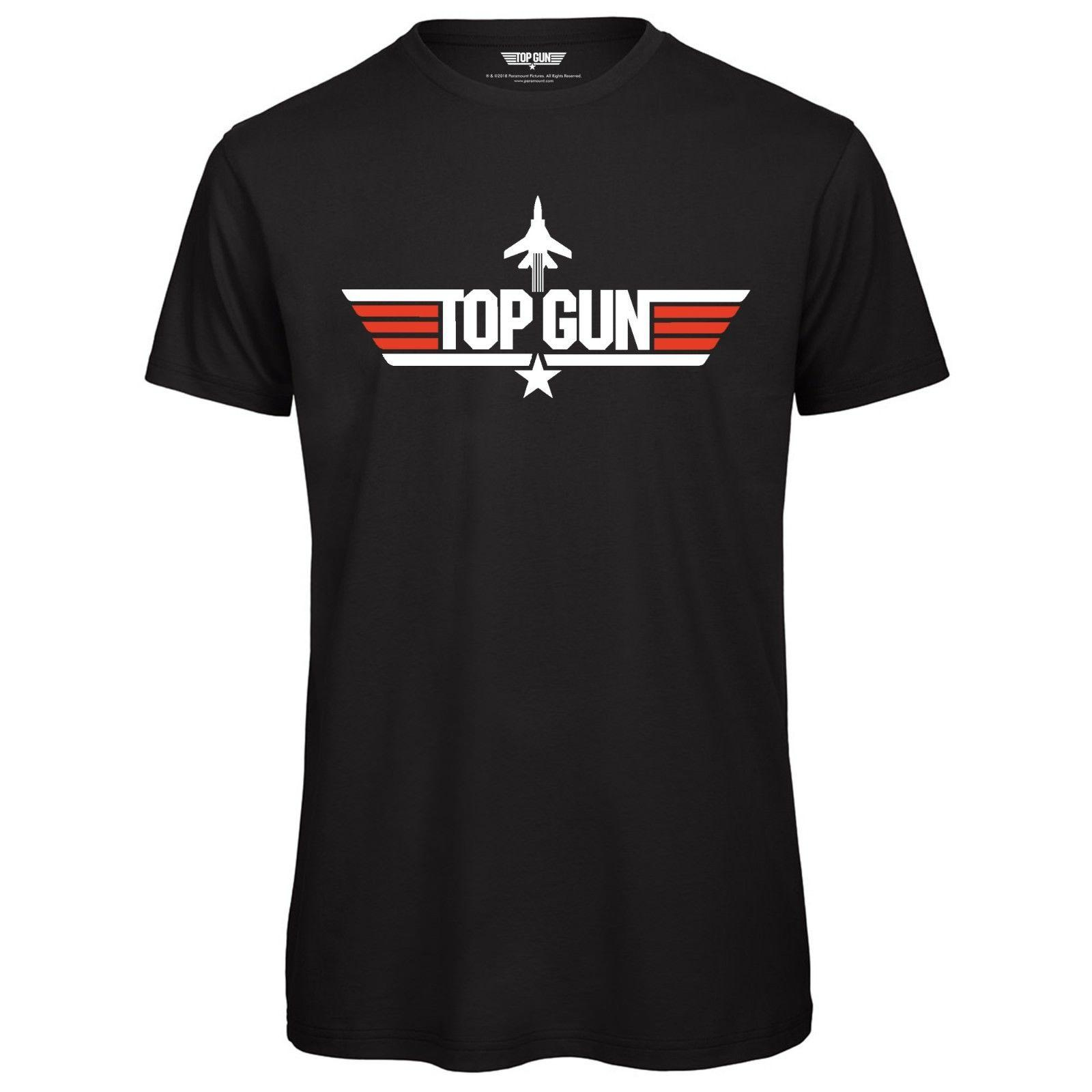 Top Gun Logo para hombre Camiseta - Licencia oficial TopGun negro Impreso superior divertido envío gratis Camiseta casual
