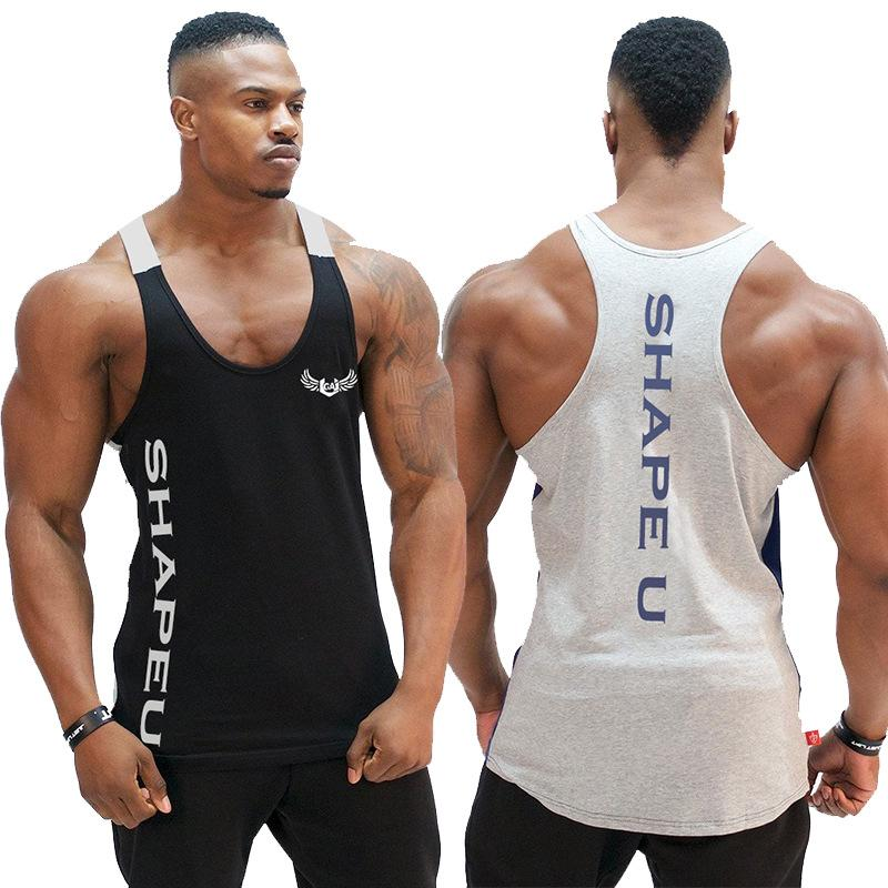 Printed Mens Sports Gym Sleeveless Briefs See Through Fitness s Muscle Tees