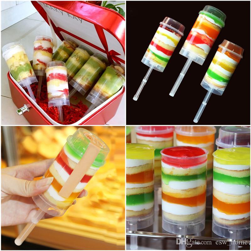 Temizle Kek Itin Kek Itin Pop Konteynerler Cupcakes Kek Dondurma Kalıp pişirme araçları Için Plastik