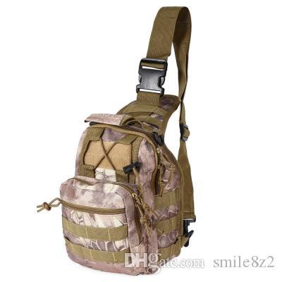 Открытый Crossbody тактические дни Военные путешествия Оксфорд Кемпинг Пешие прогулки Сумка Плечо Камуфляж Trekking Hunting Bag Back 7 Рюкзак Deli Qwlw