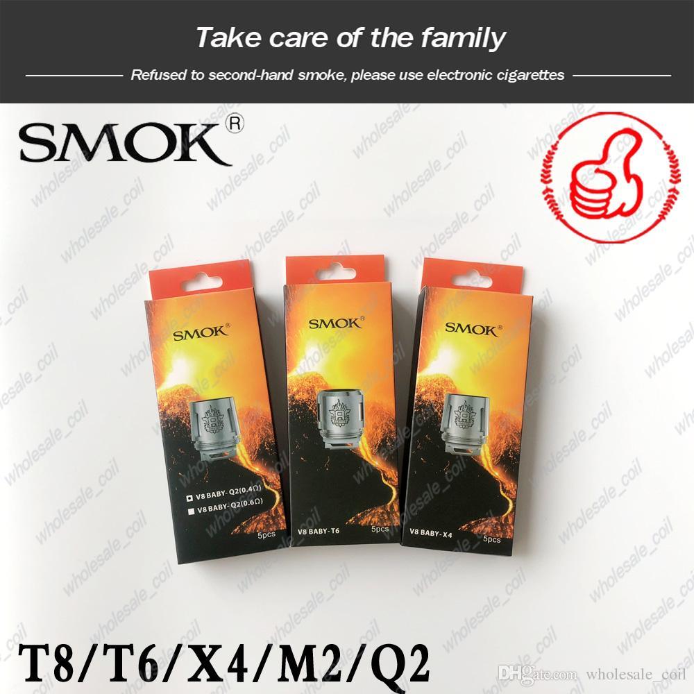 аутентичный SMOK TFV8 Детские Катушки Head V8 Baby-T8 Baby-T6 Baby-Х4 Baby-Q2 Baby-M2 Основного Replacment катушка для TFV8 РЕБЕНОК Beast Tank DHL Free
