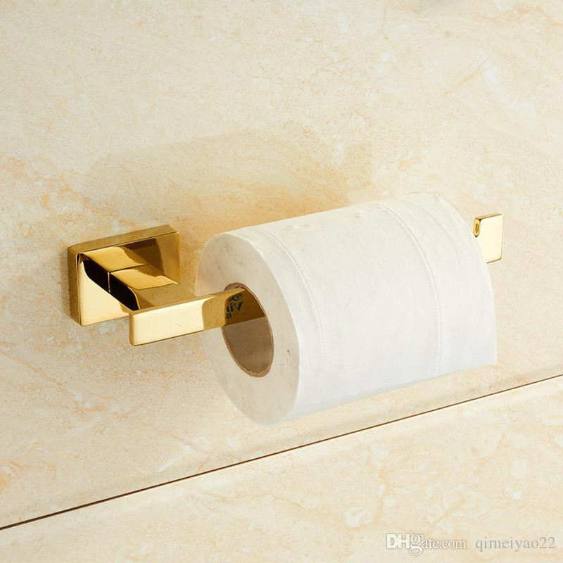 Gold Toilet Paper Holder European Creative Vintage Tissue Roll Holder Solid Brass Bathroom Accessories Products