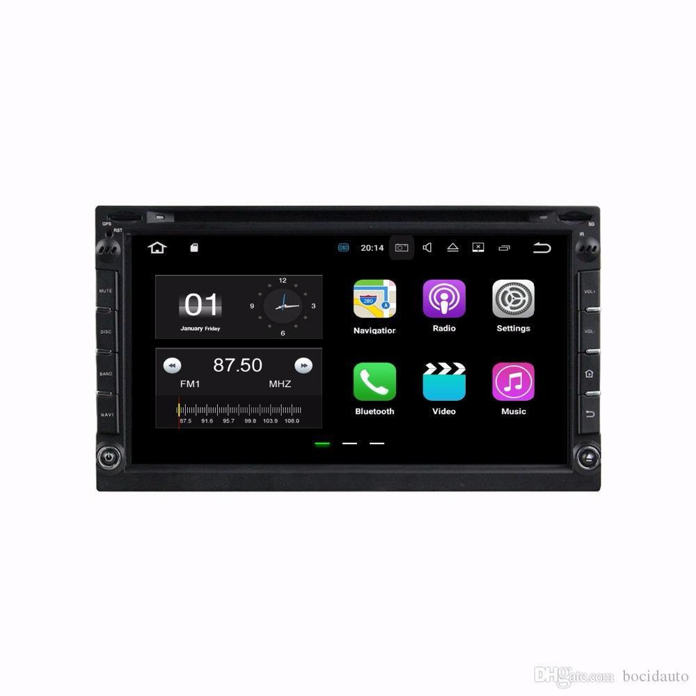 """Q2GB RAM 2 din 6.95 """"Android 7.1.2 Radio Universal de Coche DVD DVD DVD GPS Unidad Principal Multimedia con Bluetooth WIFI TV USB Espejo de enlace"""