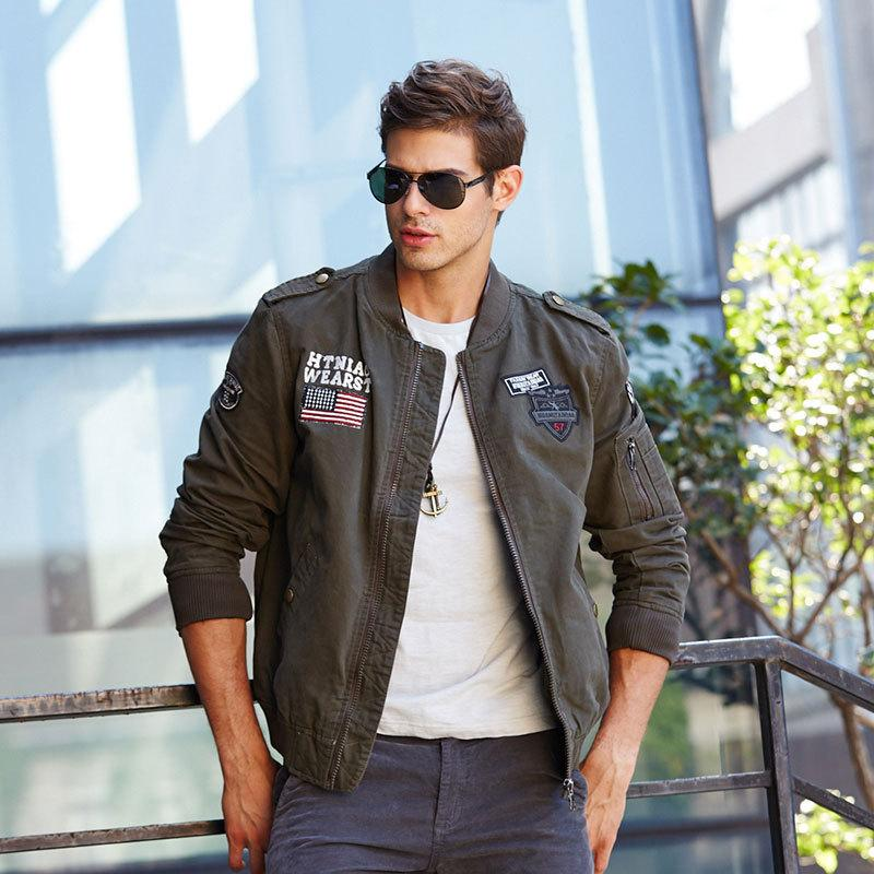 Tactical Jacket Mens Work Clothes Military Air Force Pilot Bomber Flight Clothes Overalls Hombre Army Winter Autumn Overcoat
