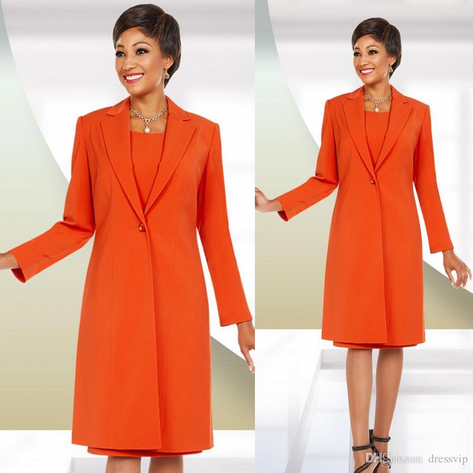 Nouvelle Arrivée Plus La Taille Mère Des Robes De Mariée Avec Veste Orange Couleur Deux Pièces Élégante Robe De Mariée Invitée Pour Mère