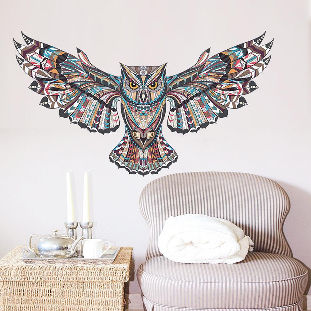 Acquista Chic Owl Soggiorno Camera Da Letto Sfondo Adesivo Da Parete Camere  Decorazione Domestica Adesivo Rimovibile Impermeabile Gufo Adesivo Murale  ...