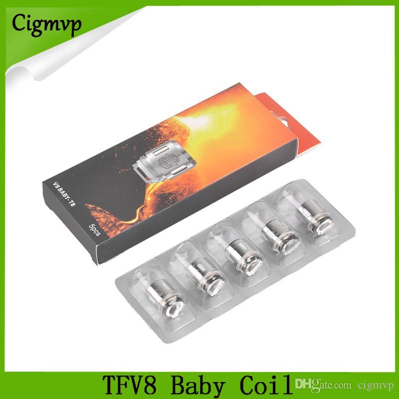 TFV8 طفل لفائف رئيس v8 الطفل replacment t8 t6 x4 m2 q2 0.4ohm 0.6ohm ل TFV8 الطفل تانك شحن مجاني 0266110-1