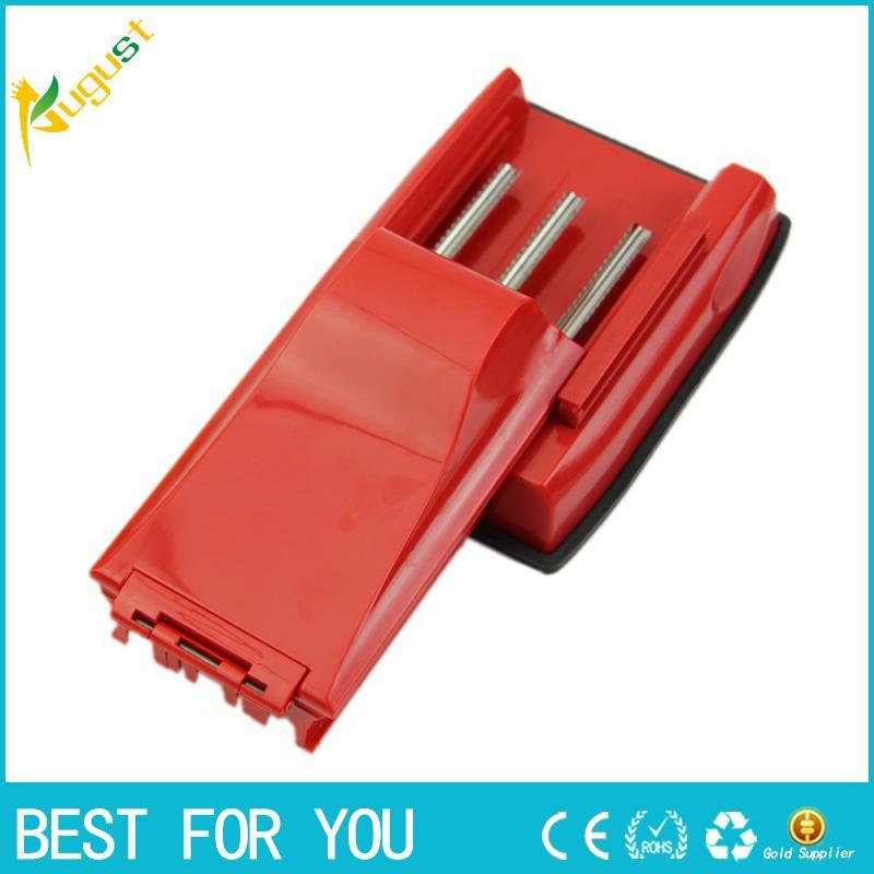Macchina di rifornimento manuale della sigaretta del fumatore a tre tubi di plastica con gli accessori vuoti di fumo del tabacco della sigaretta
