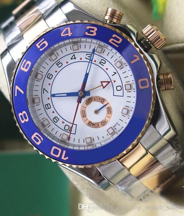 Wysokiej jakości Sapphire 116681 Rose Gold Perpetual 44mm White Dial Automatyczny ruch Mens Watch Sport Ruch Ruchu Zegarek