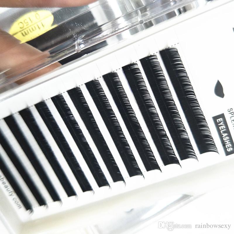 Seashine ipek bireysel kirpik uzatma makyaj araçları sıcak satış 100% el yapımı doğal görünümlü güzellik lashes ücretsiz kargo