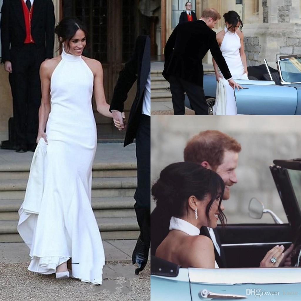 prince harry meghan markle sheath wedding dresses 2018 modest high neck halter full length outdoor garden dancing bridal gown unique wedding gowns wedding dress for bride from kazte 116 49 dhgate com prince harry meghan markle sheath wedding dresses 2018 modest high neck halter full length outdoor garden dancing bridal gown unique wedding gowns