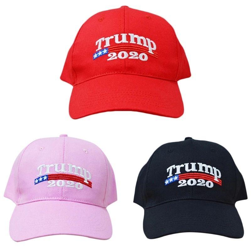 Baseball Caps Embroidery Trump 2020 Hat Make America Great Again Donald Ball  Caps US Republican Solid Cap Casual Adjustable Hat YFA407 97e3b724636