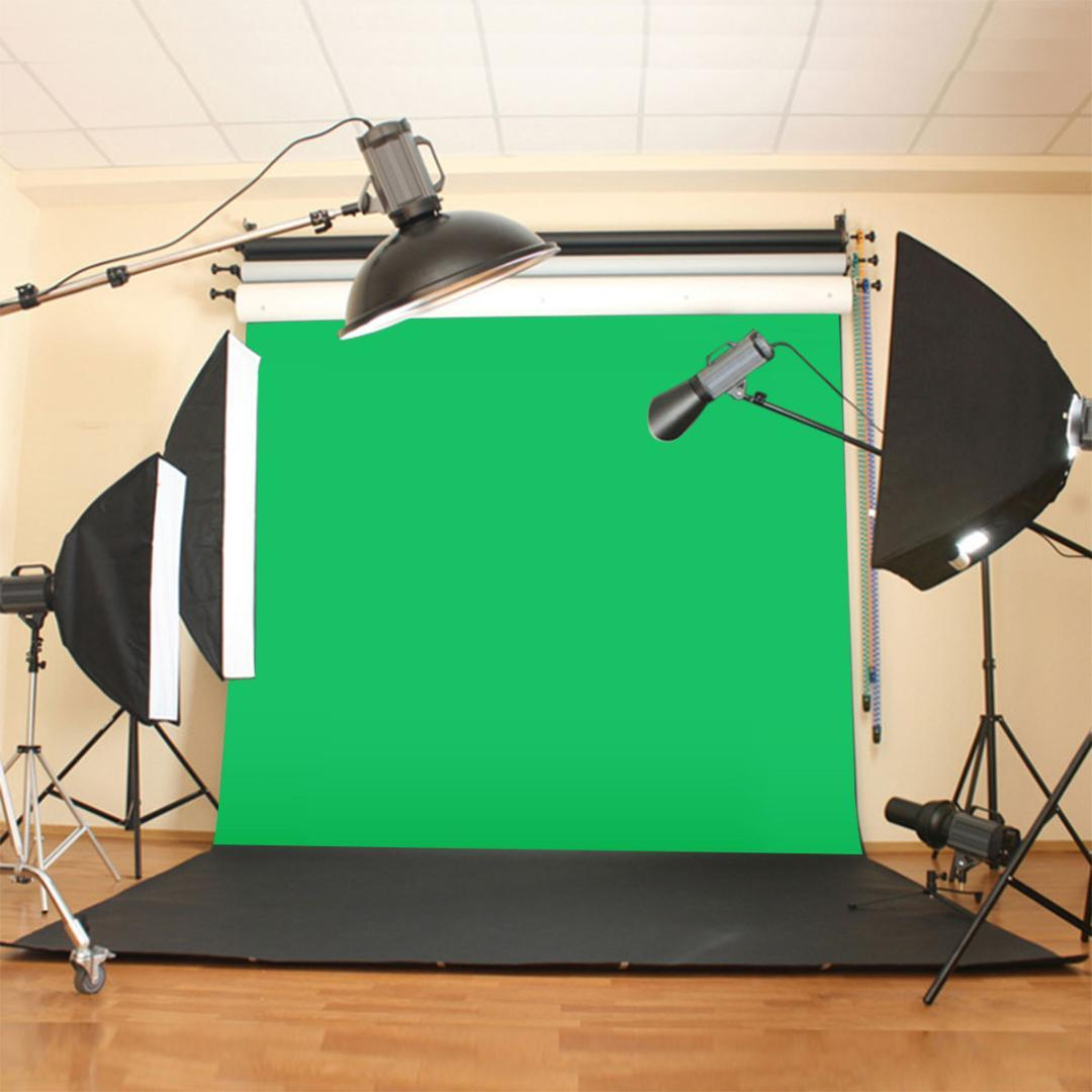 10X10ft / 300x300CM Chromakey Green Screen Mussola Green Screen Screen Contesto fotografico Studio fotografico di sfondo