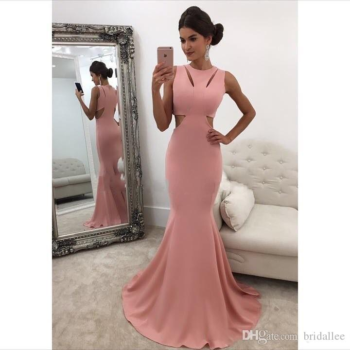 Sexy Plus Size Pink Formal Prom Dresses Abiti da sera lunghi Abito da sirena Abito a sirena