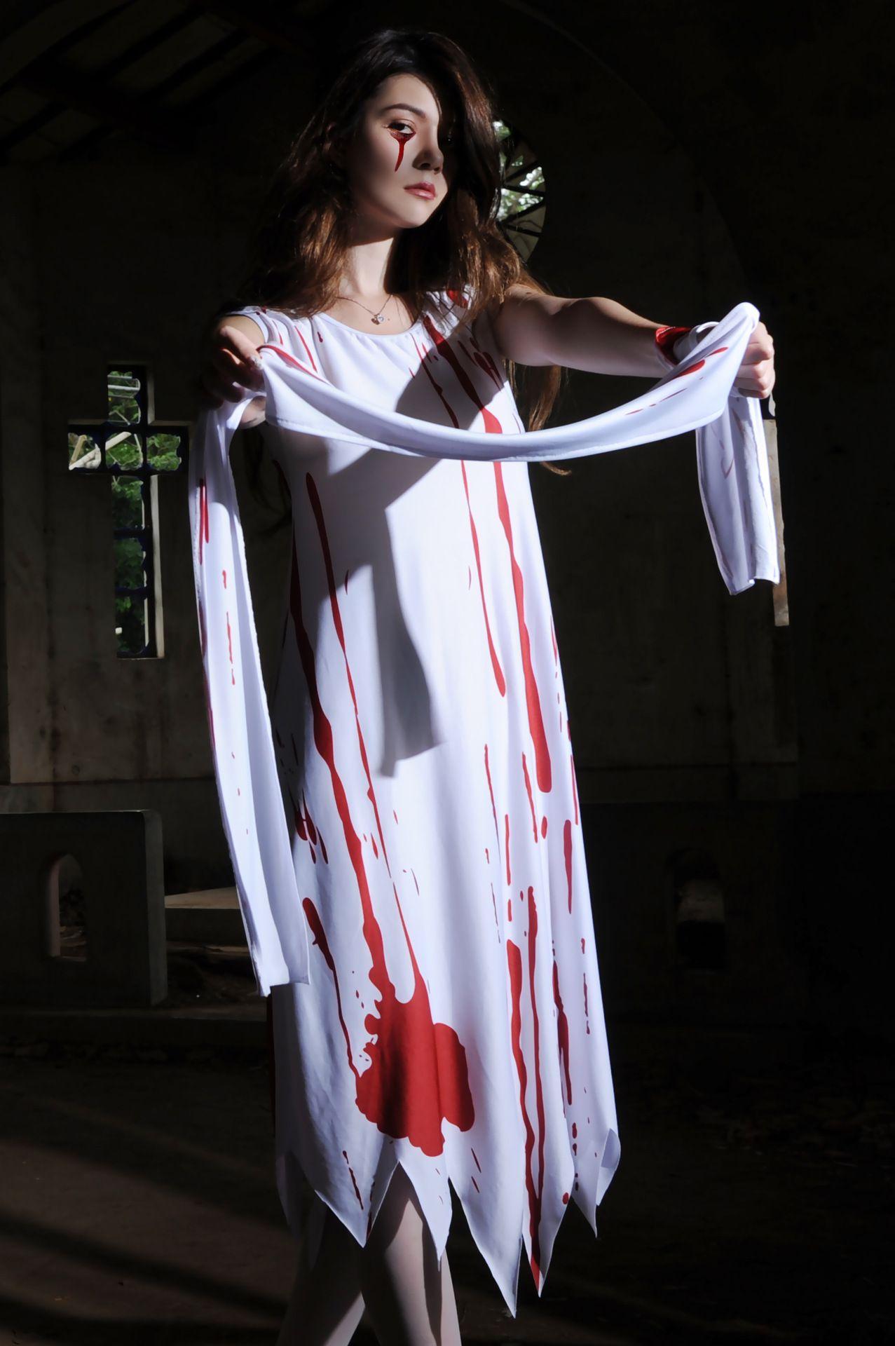 Haute Qualité 2018 En Gros Nouvelle Sexy dame Halloween Docteur Sanglant Et Infirmière Effrayant Costume Cosplay Ypf170
