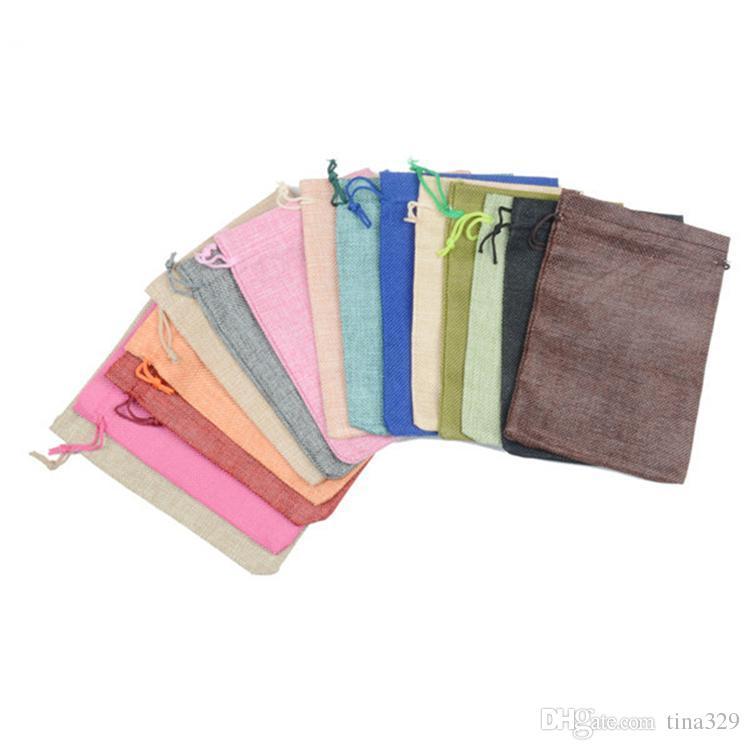 Em branco Simples Pequeno Saco De Pano Com Cordão Saco de Armazenamento De Jóias Embalagem de Presente DIY Saco de Armazenamento de Chá de Doces Vazio T2I390