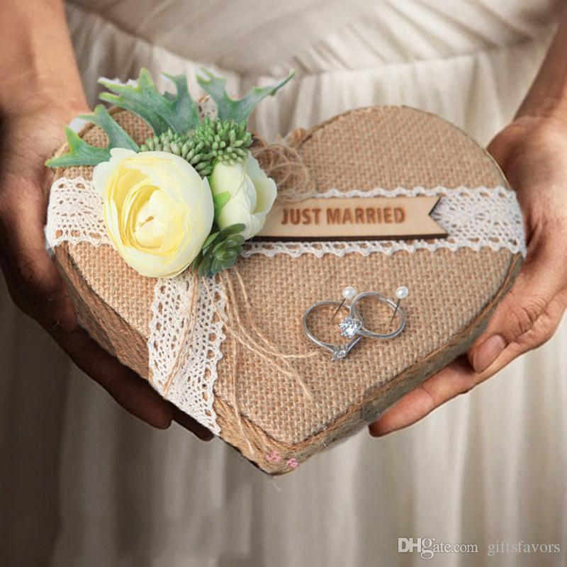 custom logo wedding ring cushion natural forest ring pillow holder engagement marriage propose decoration ideas free shipping