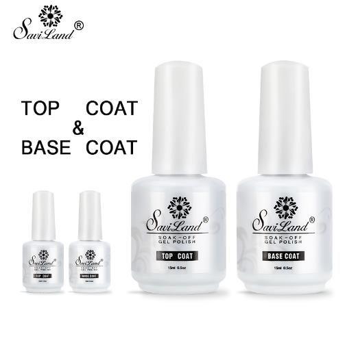 Coat 2pcs Base Top Coat Set del gel Nail Polish Soak Off Long Lasting Nail LED del gel per unghie 15ml gel UV lacca