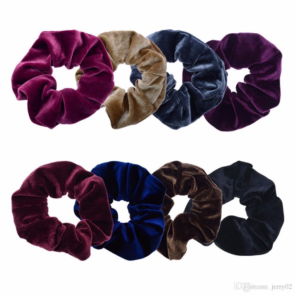 جديد وصول المخملية مطاطا الحبال الشعر scrunchies الفتيات لا تجعد الشعر العلاقات النساء الملحقات