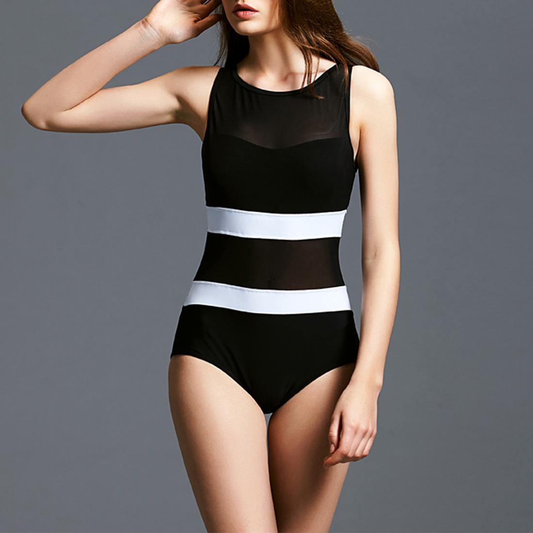 2021 Uimapuku 2018 Swimwear Women Conservative One Piece Swimsuit Net Yarn Bathing Suit Push Up Swim Wear Female Slimming Beach Wear From Mingclothes001 23 05 Dhgate Com